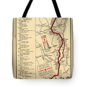 Map Of The Lone Star Route 1922 Tote Bag