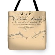 Map Of The Red River 1806 Tote Bag