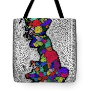Map Of The Uk Decorative Tote Bag