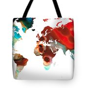 Map Of The World 5 -colorful Abstract Art Tote Bag
