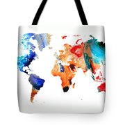Map Of The World 8 -colorful Abstract Art Tote Bag