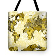Map Of The World Collage  Tote Bag