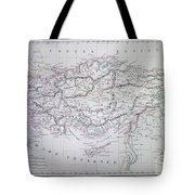 Map Of Turkey Or Asia Minor In Ancient Times Tote Bag