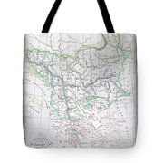 Map Of Turkey Or The Ottoman Empire In Europe Tote Bag