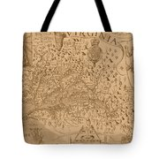Map Of Virginia 1698 Tote Bag