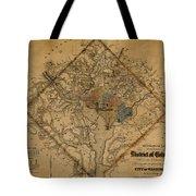 Map Of Washington 1862 Tote Bag