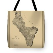 Map Of West Point 1883 Tote Bag