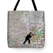 Map Overland Park Kansas Tote Bag