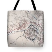 Map: Siege Of Atlanta 1864 Tote Bag