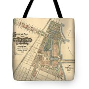 Map: Worlds Fair, 1893 Tote Bag