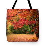 Maple In Red And Orange Tote Bag