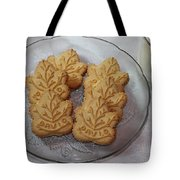 Maple Leaf Cookies And Milk - Food Art - Kitchen Tote Bag
