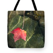 Maple Leaf On Water Tote Bag