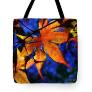 Maple Leaf Tracery Tote Bag