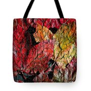 Maple Leaves Cracked Square Tote Bag