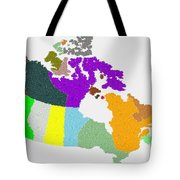 Maple Leaves Map Of Canada Tote Bag