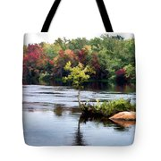 Maple Tree On A Rocky Island - V2 Tote Bag