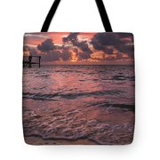 Marathon Key Sunrise Panoramic Tote Bag by Adam Romanowicz