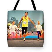 Marathon Of Happiness Tote Bag