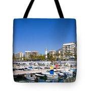 Marbella Marina In Spain Tote Bag