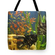 Marble Angelfish Kisses Tote Bag