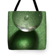 Marble Clear On Green 1 Tote Bag
