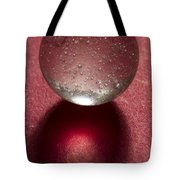 Marble Clear On Red 1 Tote Bag
