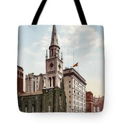 Marble Collegiate Church Holland House New York Tote Bag