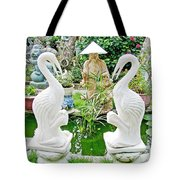 Marble Stork Sculptures In Xuat Anh-vietnam Tote Bag