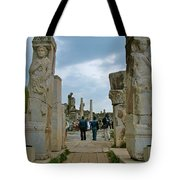 Marble Way From Theater To Central Ephesus-turkey Tote Bag