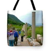 Marble Way In Ephesus-turkey Tote Bag