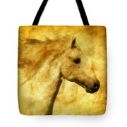 Marbled War Horse Tote Bag