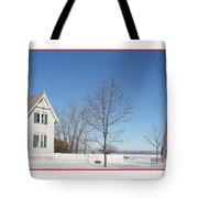 Marblehead Lighthouse In Snow Tote Bag