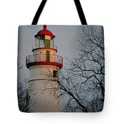Marblehead Lighthouse On Lake Erie  Tote Bag
