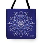 Marbleized Snowflake Kaleidoscope Tote Bag