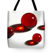 Marbles Red 2 Tote Bag