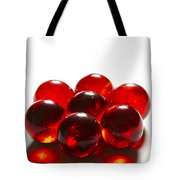 Marbles Red 3 B Tote Bag