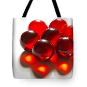 Marbles Red 3 C Tote Bag