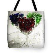 Marbles Wine Glasses 2 Tote Bag