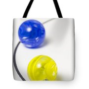 Marbles Yellow Blue Curve 1 Tote Bag