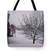 March Snowfall Tote Bag