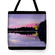 March Sunset In Maine Tote Bag
