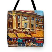 Marche Bonsecours Old Montreal Tote Bag