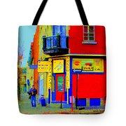 Marche Unique Cafe Sandwich Depanneur Rue St. Jacques St. Henri  Street Scenes Carole Spandau Tote Bag