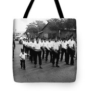 Marchers Number 1 100th Anniversary Parade Nogales Arizona 1980 Black And White  Tote Bag