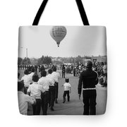 Marchers Number 2 100th Anniversary Parade Nogales Arizona 1980 Black And White  Tote Bag