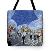 Marching Band, Brecon Jazz Festival, 1994 Oil On Board Tote Bag