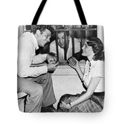 Marciano In A Movie Jail Set Tote Bag by Underwood Archives