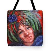 Mardi Gras Girl Tote Bag