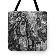 Mardi Gras Indian Monochrome Tote Bag
